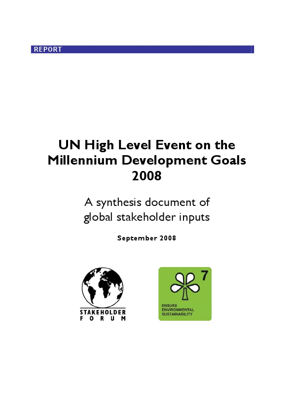 MDG_Synthesis_Document